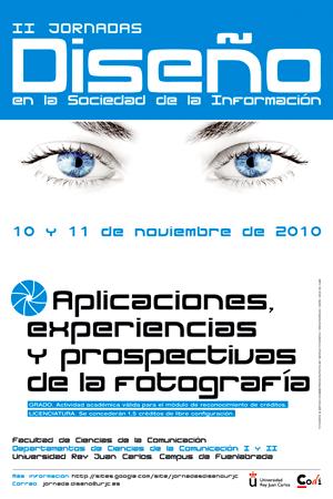 Cartel II Jornadas de Diseño Gráfico en la Sociedad de la Información